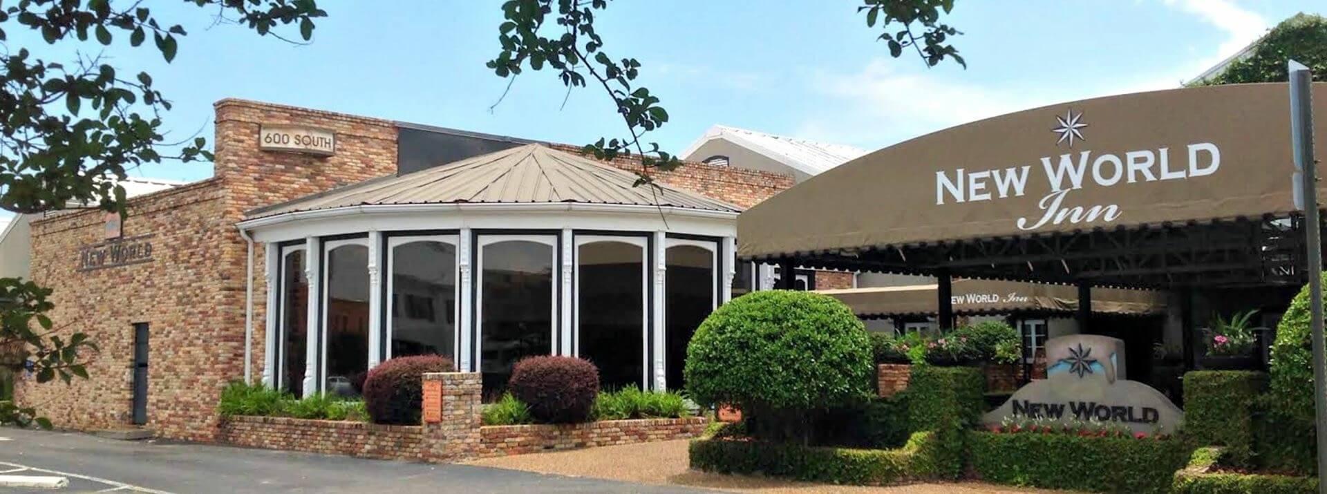 Skopelos at New World and New World Inn building