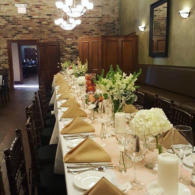 Custom Table Setting at New World Inn